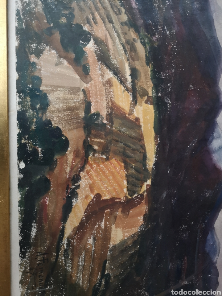 Arte: A. FERNANDEZ, FIRMADO Y FECHADO, 1963, Medidas con marco 68x54cm - Foto 2 - 180014122