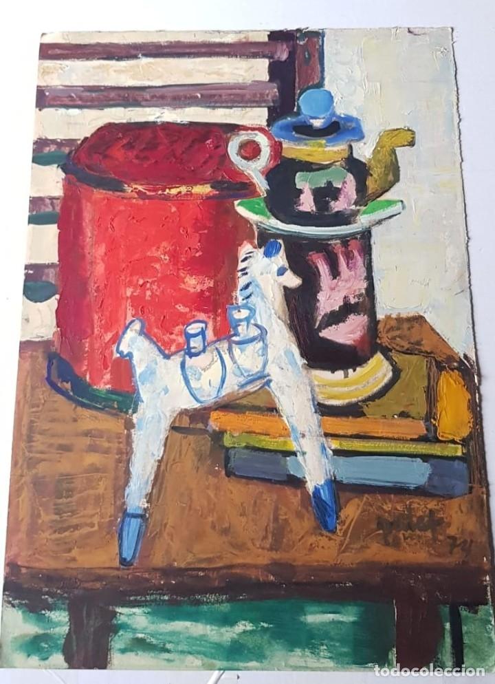 JOAN PALET BATISTE - COMPOSICIÓN (Arte - Acuarelas - Contemporáneas siglo XX)