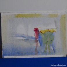 Arte: ACUARELA ANÓNIMA.ELEGANTE.TONOS SUAVES.. Lote 180042086