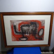 Arte: INTERESANTE ACUARELA Y TINTA SOBRE CARTULINA ANONIMO. . Lote 180147243