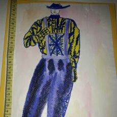 Arte: PRECIOSO DIBUJO DE MODA DE LA DISEÑADORA. Lote 180168730