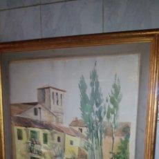 Arte: GRAN ACUARELA,MOTIVO LAVANDERAS.FIRMADA, 63X86 CM. Lote 180253480
