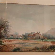 Arte: ACUARELA. SOBRE PAPEL. MATEU RIBERA. AÑOS 70.. Lote 180958616
