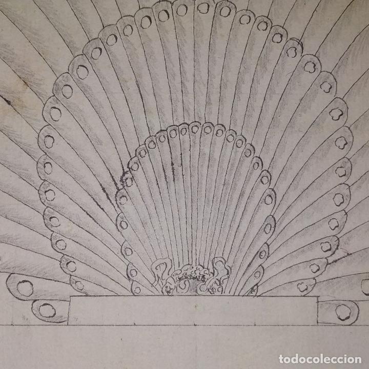 Arte: ORNAMENTOS NEOCLASICOS. ACUARELA Y TINTA SOBRE PAPEL. ESPAÑA. FIN XVIII - Foto 7 - 181019160