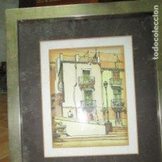 Arte: ANTIGUA ACUARELA PLAZA DEL CARMEN ALICANTE FIRMADA . Lote 181442136