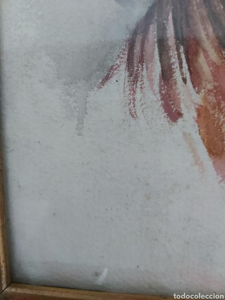 Arte: ANTIGUA ACUARELA FIRMADA CRISTI CON MARCO DORADO - Foto 3 - 181943453