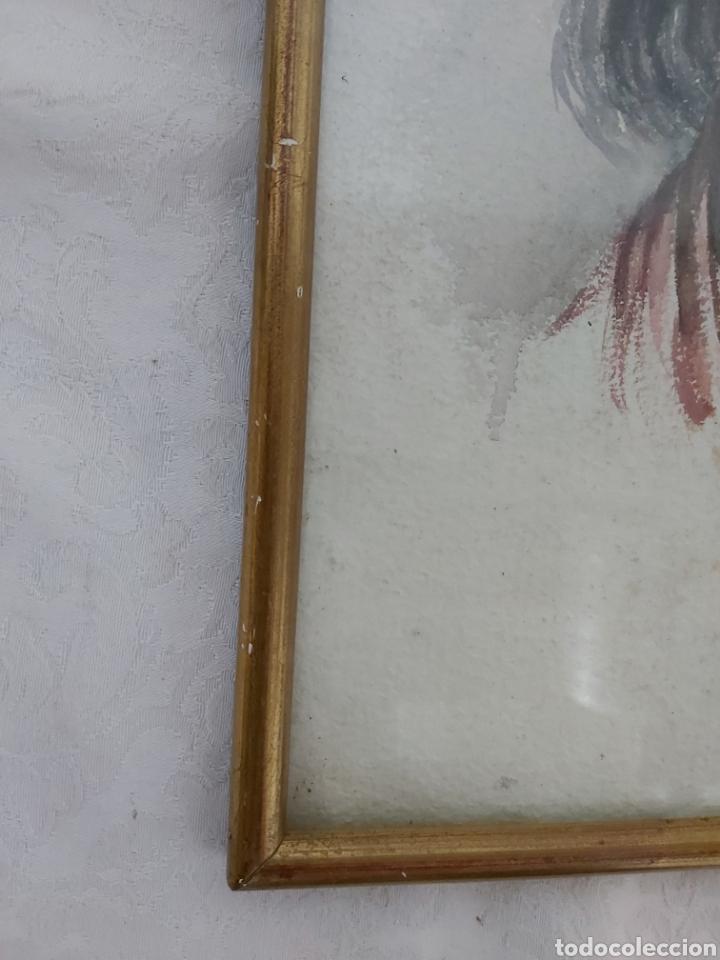 Arte: ANTIGUA ACUARELA FIRMADA CRISTI CON MARCO DORADO - Foto 5 - 181943453
