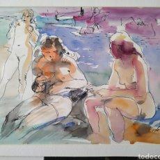 Arte: ACUARELA DE DANIEL CODORNIU, 1986. Lote 182072813