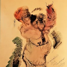 Arte: CARLOS TARAZONA TORÁN (VALENCIA 1909-VERACRUZ .MÉXICO 1991) ACUARELA FIRMADA EN 1957 (30 X 20). Lote 182091638