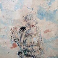 Arte: MIGUEL MILLAN. MAGNÍFICA ACUARELA.. Lote 182358796