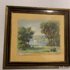 Arte: JAUME BERNADES PONT * PAISAJE CON PASTOR Y REBAÑO. Lote 182418342