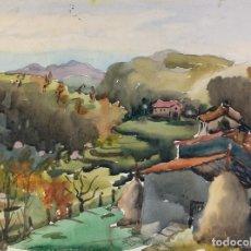 Arte: ACUARELA SOBRE PAPEL PAISAJE DE RUPIT FIRMADO M.AGUILAR. Lote 182528500