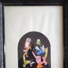 Arte: ARTISTA QASTIYO. ACRÍLICO SOBRE CARTÓN DE 1979. Lote 182564407