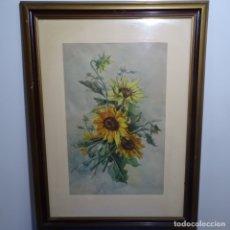 Arte: GRAN ACUARELA FIRMADA E. FONT.BUEN TRAZO Y DETALLE.. Lote 182646115