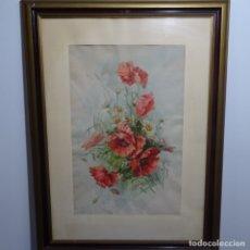 Arte: GRAN ACUARELA FIRMADA E. FONT 1910.BUEN TRAZO Y DETALLE.. Lote 182646180