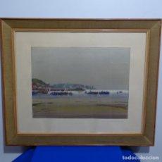 Arte: ACUARELA DE JOAN FUSTER GIMPERA (TORRUELLA DE MONTGRI).ILLES MEDES. ESTRAMBOTISMO.L' ESTARTIT 1967.. Lote 182729848