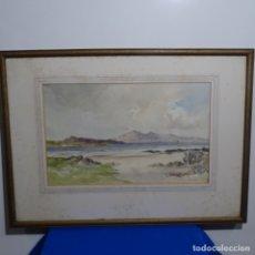 Arte: ANTIGUA ACUARELA DE GLASGOW-ESCOCIA.FIRMADA JOHN CAGHARAN.. Lote 182805925