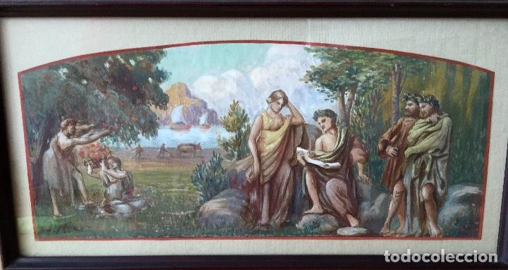 ACUARELA SOBRE PAPEL DE JOHN REINHARD WEGUELING RWS (REINO UNIDO 1849- 1927)ATRIBUIDA (Arte - Acuarelas - Modernas siglo XIX)