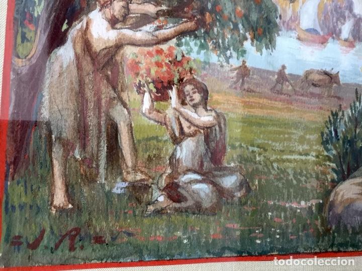 Arte: Acuarela sobre papel de John Reinhard Wegueling RWS (Reino Unido 1849- 1927)Atribuida - Foto 2 - 182863441