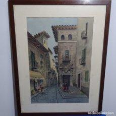 Arte: PRECIOSA ACUARELA DE MALLORCA FIRMADA DÍAZ.. Lote 182912713