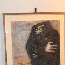 Arte: RAFAEL SECO, LA MUERTE, ÓLEO SOBRE PAPEL AÑOS 60-70. Lote 182974730