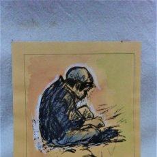 Arte: DIBUJO COLOREADO A LA ACUARELA. NONELL? VER DESCRIPCIÓN. Lote 183226115