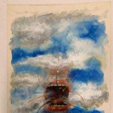 Arte: XAVIER NOGUERA BALLESTA - SIN PALABRAS. ACUARELA ORIGINAL FIRMADA. Lote 183303277
