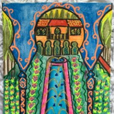 Arte: EL GENERALIFE TÉCNICA MIXTA DE LA PINTORA CANARIA RUTH CALDERÍN (LAS PALMAS DE GRAN CANARIA 1977). Lote 183560468