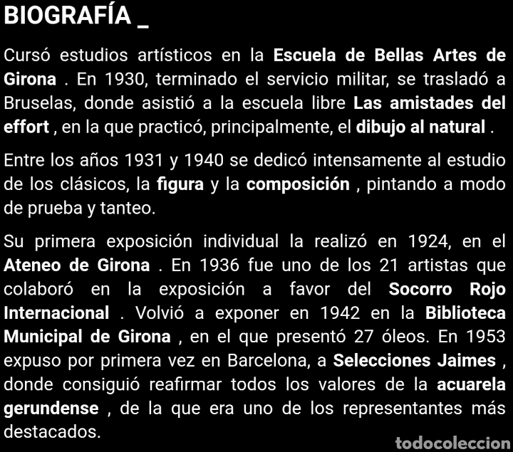 Arte: Martín Adroher Bosch (Gerona, 1905-1972) - Paisaje Rural.Aguada/cartulina.Firmado. - Foto 8 - 183565740