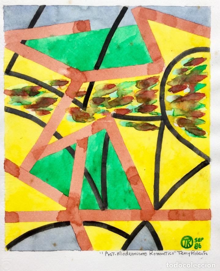 Arte: TERENCE ANDREW ROBERTS (Georgetown 1949) Obra titulada Post-Modernismo Romántico fechada den 1986 - Foto 2 - 183585026