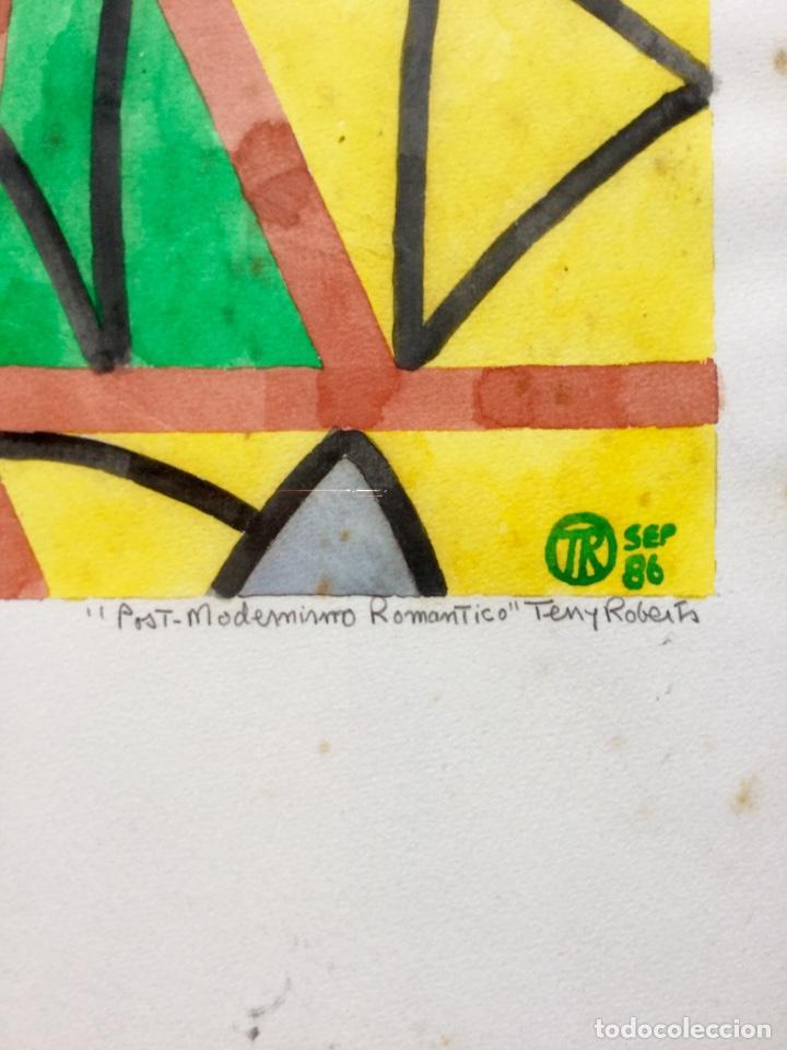 Arte: TERENCE ANDREW ROBERTS (Georgetown 1949) Obra titulada Post-Modernismo Romántico fechada den 1986 - Foto 3 - 183585026