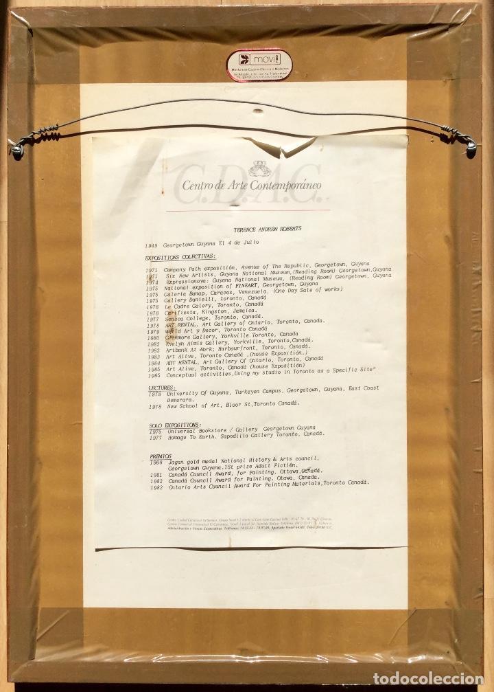 Arte: TERENCE ANDREW ROBERTS (Georgetown 1949) Obra titulada Post-Modernismo Romántico fechada den 1986 - Foto 4 - 183585026