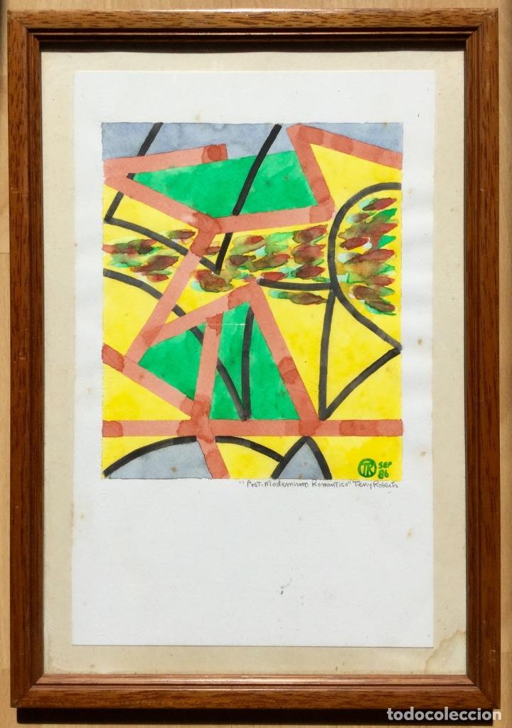 Arte: TERENCE ANDREW ROBERTS (Georgetown 1949) Obra titulada Post-Modernismo Romántico fechada den 1986 - Foto 6 - 183585026