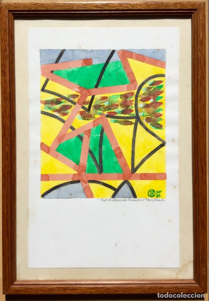 Arte: TERENCE ANDREW ROBERTS (Georgetown 1949) Obra titulada Post-Modernismo Romántico fechada den 1986 - Foto 7 - 183585026