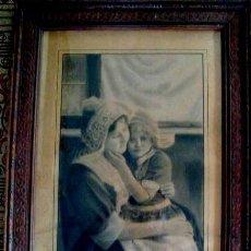 Arte: ESCUELA BELGA. MATERNIDAD. FIRMADO DUBRAY EN 1915. Lote 183732781