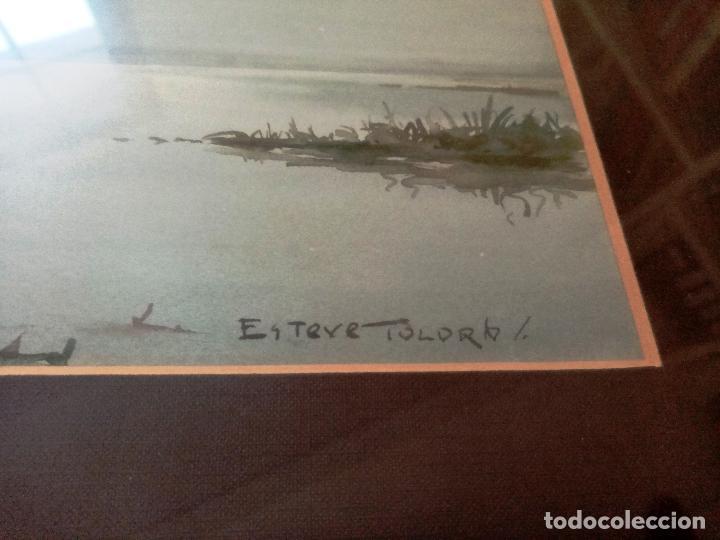 Arte: Acuarela de pintor Esteve Toldrá - Foto 2 - 183734563