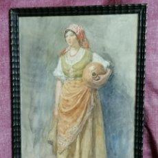 Arte: ACUARELA DE JUAN JOSÉ GÁRATE Y CLAVERO. Lote 183740080