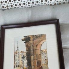 Arte: , PLAZA MAYOR, DE MADRID, ACUARELA DE ANTONIO GARCÍA LÓPEZ. Lote 183760693
