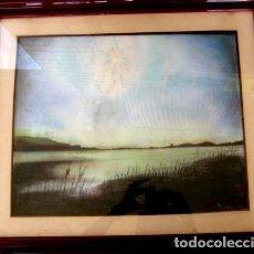 Arte: PAISAJE FAUVISTA. ACUARELA 41 X 51 FIRMADO REQUENA. Lote 183832812