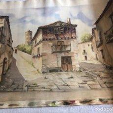Arte: BERROCAL ACUARELA BARRIO DE SEGOVIA S. XX. Lote 183953186