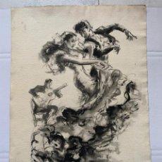 Arte: PERE CLAPERA - ESCENA FLAMENCA CON CARMEN AMAYA. Lote 184113981