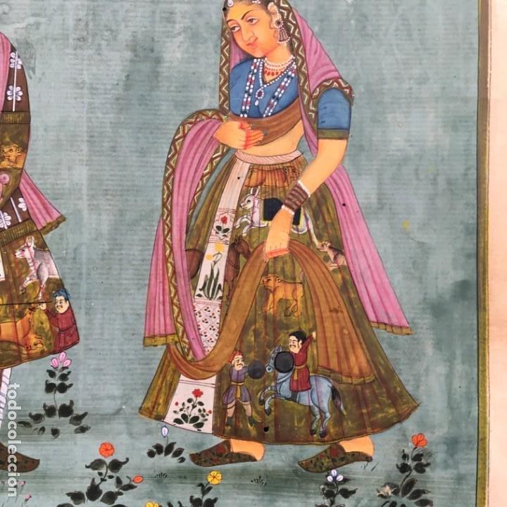 Arte: Pintura Mogol en papel - Foto 4 - 184161670