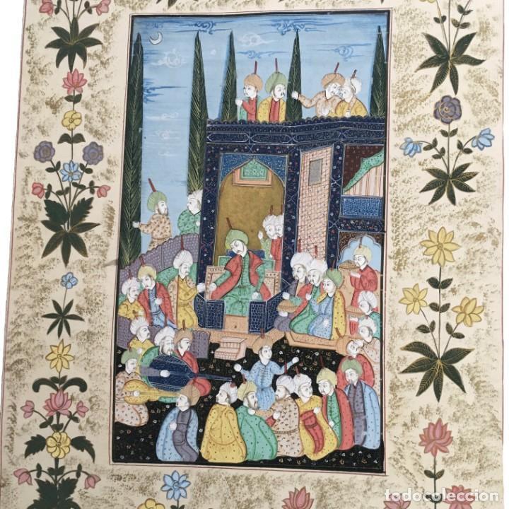 Arte: Pintura Mogol en seda - Foto 2 - 184163723