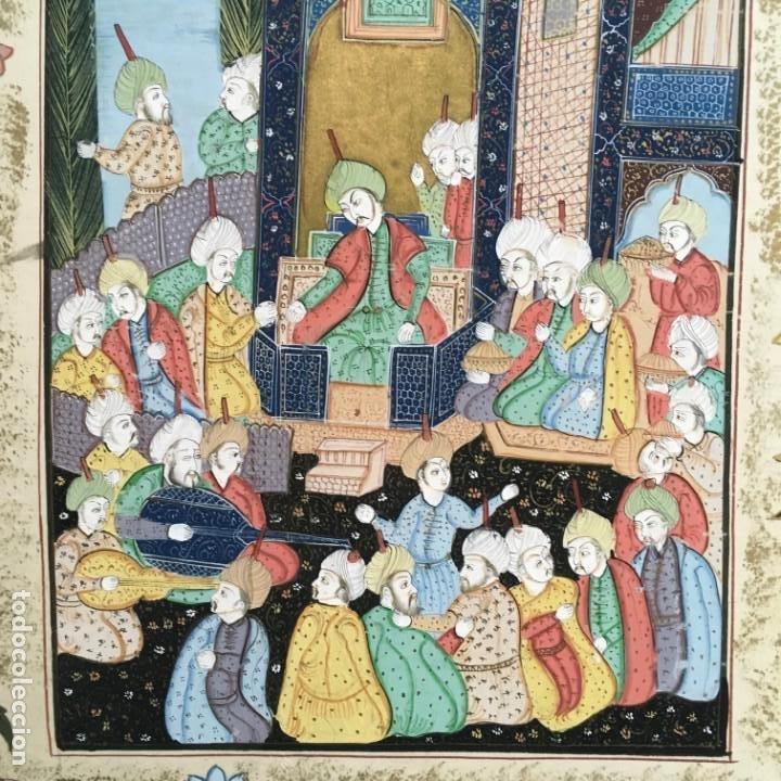 Arte: Pintura Mogol en seda - Foto 3 - 184163723