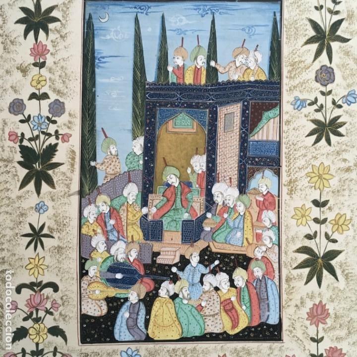 Arte: Pintura Mogol en seda - Foto 4 - 184163723
