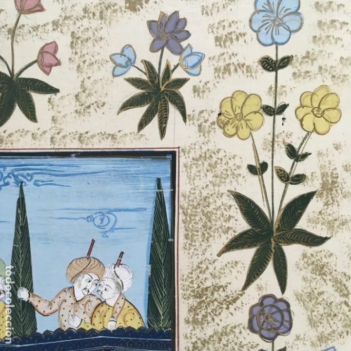 Arte: Pintura Mogol en seda - Foto 5 - 184163723