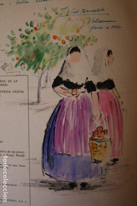 COLL BARDOLET, DIBUJO EN LA PRIMERA PAGINA DEL LIBRO, DEDICADO Y FIRMADO, VALLDEMOSA 1977. (Arte - Acuarelas - Contemporáneas siglo XX)