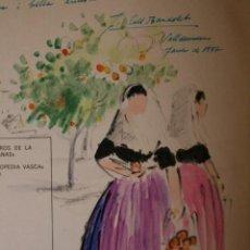 Arte: COLL BARDOLET, DIBUJO EN LA PRIMERA PAGINA DEL LIBRO, DEDICADO Y FIRMADO, VALLDEMOSA 1977.. Lote 184522153