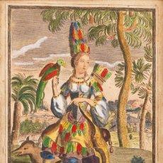 Arte: ESCUELA FRANCESA S.XVII - COLECCIÓN DE 4 GRABADOS FRANCESES - GRABADOS COLOREADOS A MANO. Lote 184620773
