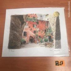 Arte: ANTIGUA ACUARELA ROMA. Lote 184664737